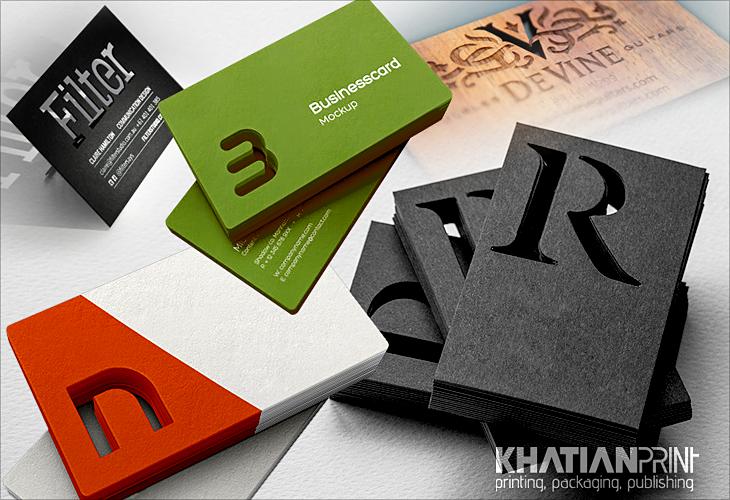 Cut out business card print shop cutting die cut laser cut for Print out business cards