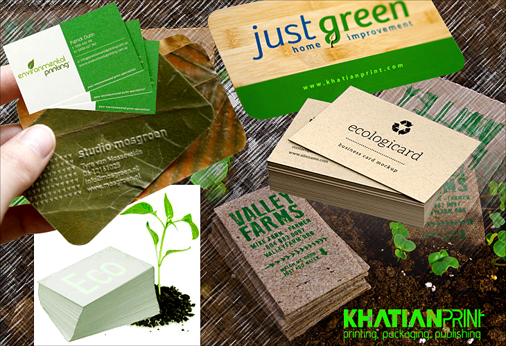 Eco business cards print shop go green recycled kraft paper eco business card recycled paper sustainable green visiting cards khatian print reheart Choice Image