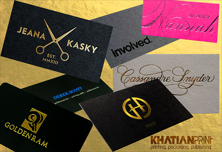 Foil business card print shop golden silver red green blue black foil business card golden silver red green blue black foiled visiting cards khatian print reheart Gallery
