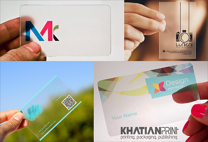Transparent business card print shop sustainable crystalline transparent business cards crystalline translucent crystal clear visiting card khatian print reheart Image collections