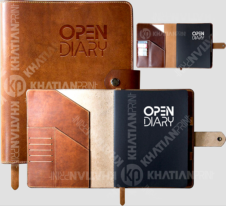 artificial leather diary custom business corporate daybook rexine diaries | khatian print