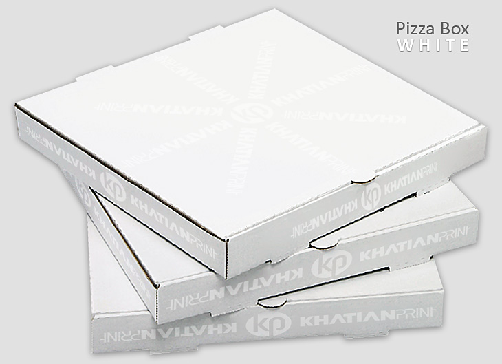 white pizza box piza take away packet pitza parcel delivery blank packs | khatian print