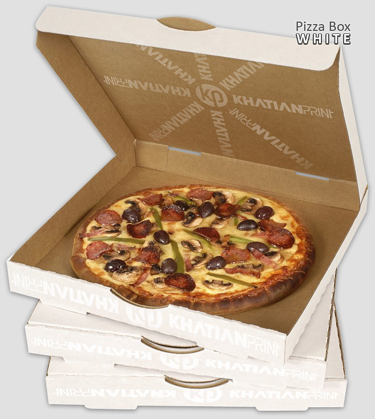 open brown pizza boxes unlock white piza packets clear pitza carrier packs | khatian print